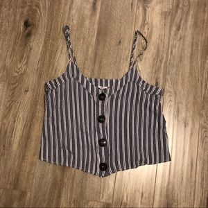2/$20💕Striped button up tank